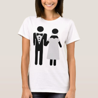 bridegroom and bride wedding icon T-Shirt
