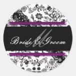 bridegroom classic round sticker