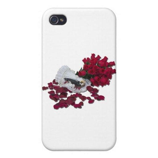 BrideGroomCakeTopperRoses100711 iPhone 4/4S Carcasas