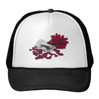 BrideGroomCakeTopperRoses100711 Trucker Hat