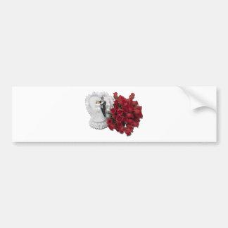 BrideGroomRoses012511 Bumper Sticker