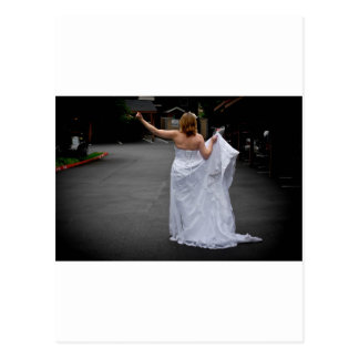 BrideHitchhike091810Hor Postcard