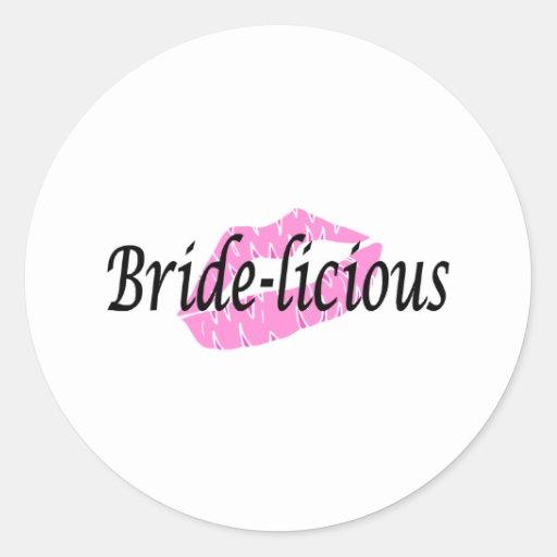 Bridelicious (Pk Lips) Classic Round Sticker