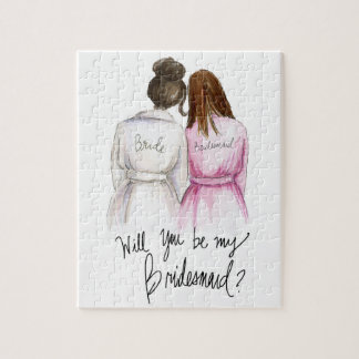 ¿Bridemaid? Criada del Br de la novia del bollo Puzzle