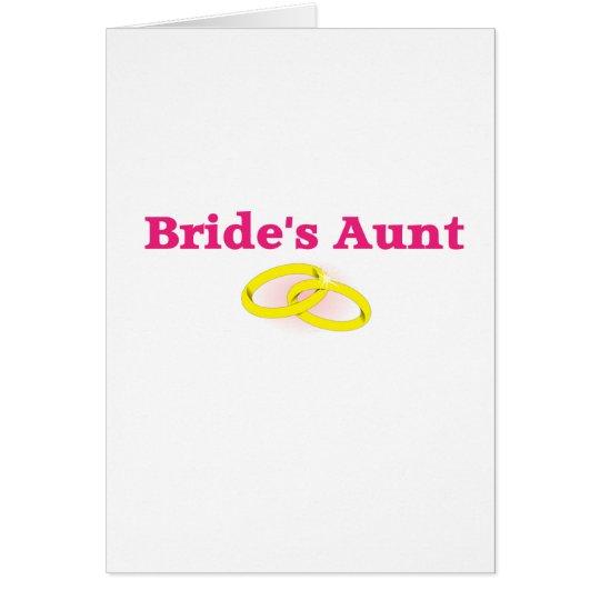 Bride's Aunt / Bride's Auntie Card