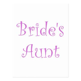 Bride's Aunt Postcard