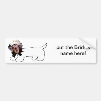 Bride's Autograph Hound Bumper Sticker