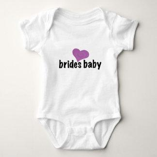 bride's baby - heart baby bodysuit