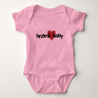 brides baby - heart baby bodysuit