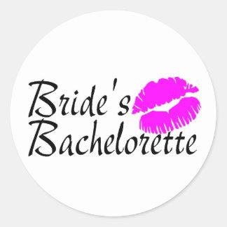 Brides Bachelorette (Kiss) Classic Round Sticker