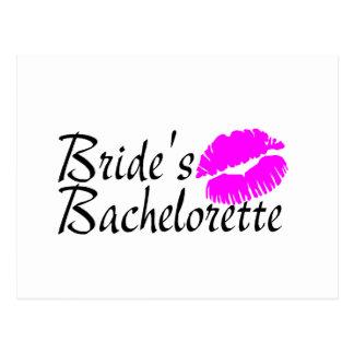 Brides Bachelorette (Kiss) Postcard