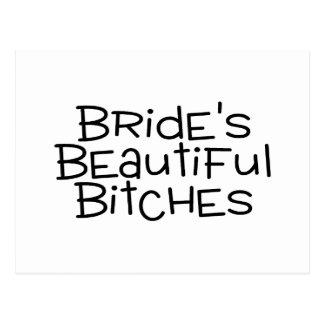 Brides Beautiful Bitches Black Postcard