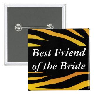 Brides Best Friend 2 Inch Square Button