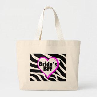 Brides BFF (Heart Zebra Print) Bags