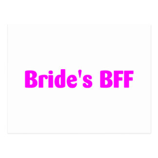 Brides BFF (Pink) Post Cards