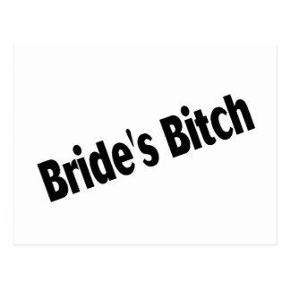 Brides Bitch Black Postcard
