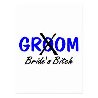 Brides Bitch Blue Postcard