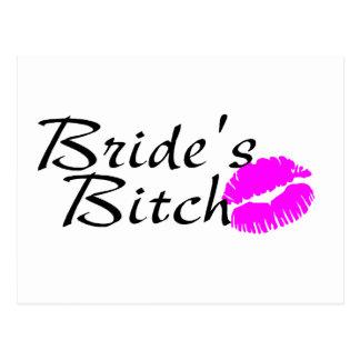 Brides Bitch Kiss Postcard