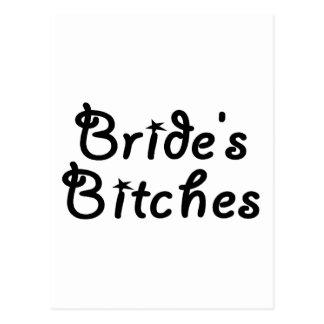 Bride's Bitches (Blk) Postcard