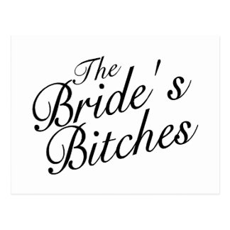 Brides Bitches Postcard