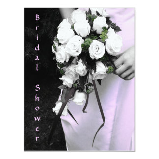Pre Wedding Gift For Bride From Bridesmaid : Brides Bouquet Bridal Shower Invitation