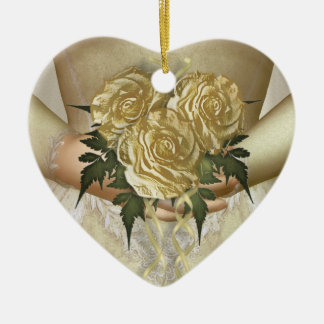 Brides Bouquet (ivory) Wedding Ceramic Ornament