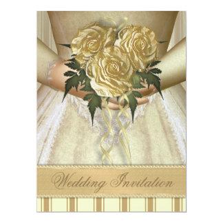Brides Bouquet (ivory) Wedding - Oversized 6.5x8.75 Paper Invitation Card