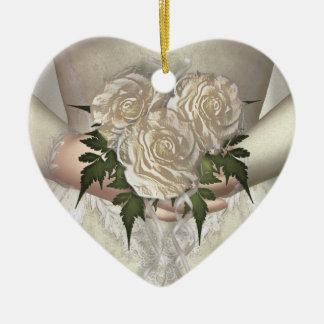 Brides Bouquet (white) Wedding Ceramic Ornament