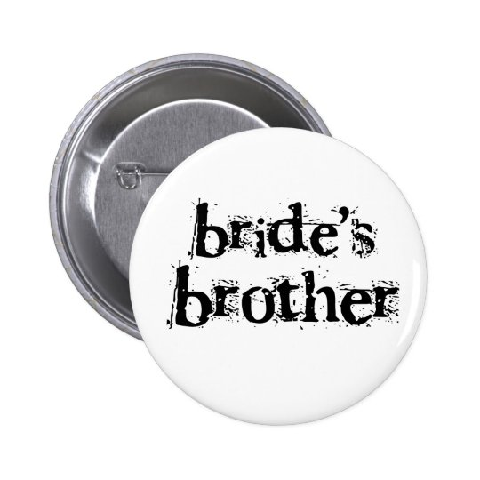 Bride's Brother Black Text Button