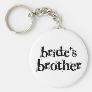 Bride's Brother Black Text Keychain