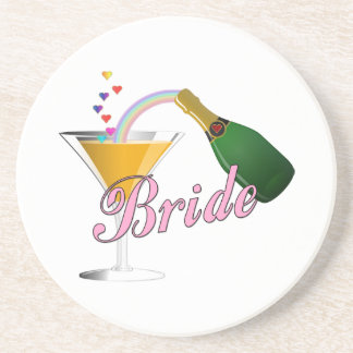 Brides Champagne Toast Drink Coaster