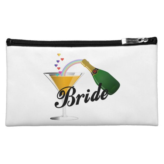 Brides Champagne Toast Makeup Bag