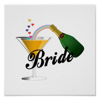 Brides Champagne Toast Poster