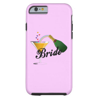 Brides Champagne Toast Tough iPhone 6 Case