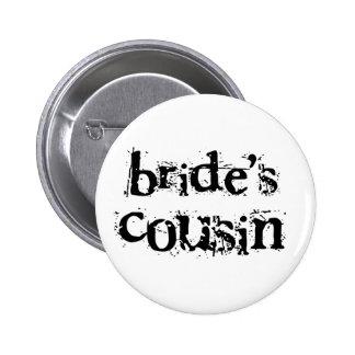 Bride's Cousin Black Text Buttons