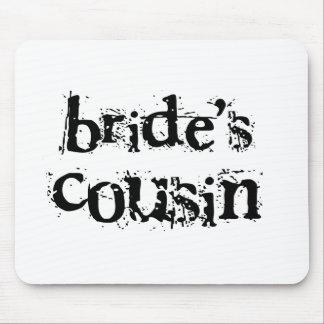 Bride's Cousin Black Text Mouse Mat