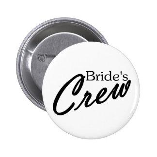 Brides Crew 2 Inch Round Button