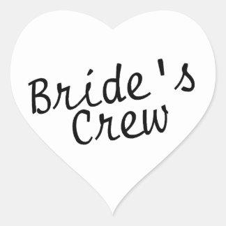 Brides Crew Black Heart Sticker