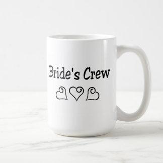 Brides Crew Black Hearts Coffee Mug