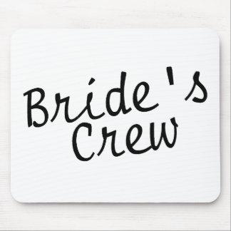 Brides Crew Black Mousepad