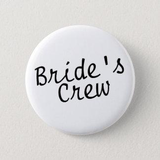Brides Crew Black Pinback Button
