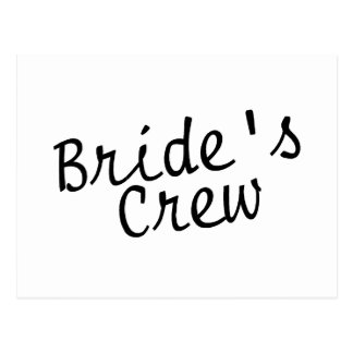 Brides Crew Black Postcard