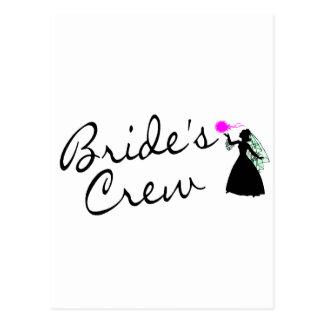 Brides Crew (Bride Blk) Postcards