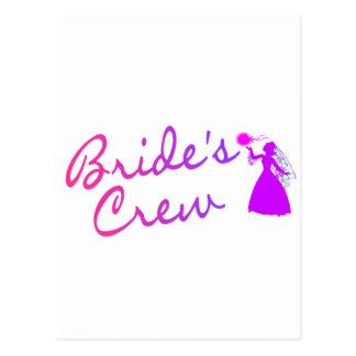 Brides Crew Bride Postcard