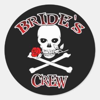 Bride's Crew Classic Round Sticker