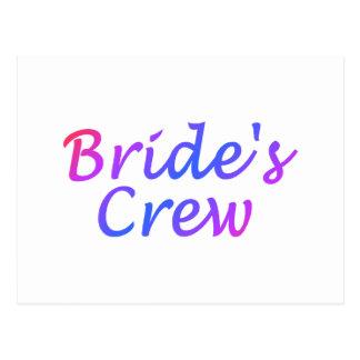 Brides Crew Pastel Postcard