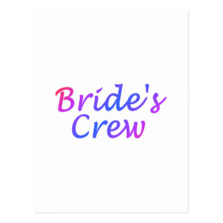 Brides Crew Pastel Post Card