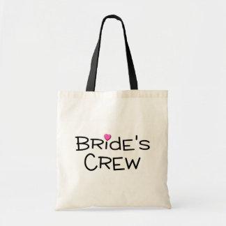 Brides Crew Pink Heart Tote Bag