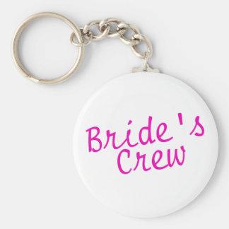 Brides Crew Pink Keychain