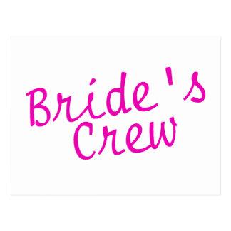 Brides Crew Pink Postcard